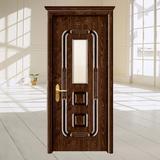 钢木门 -XLL-149(金韵玻璃门)经典栓木
