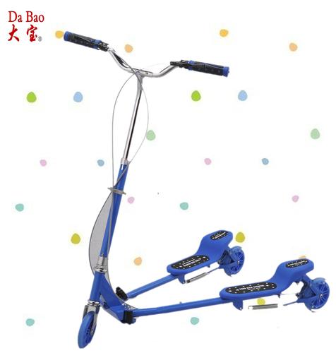 中号蛙式运动车-蓝色印花-DB8039M