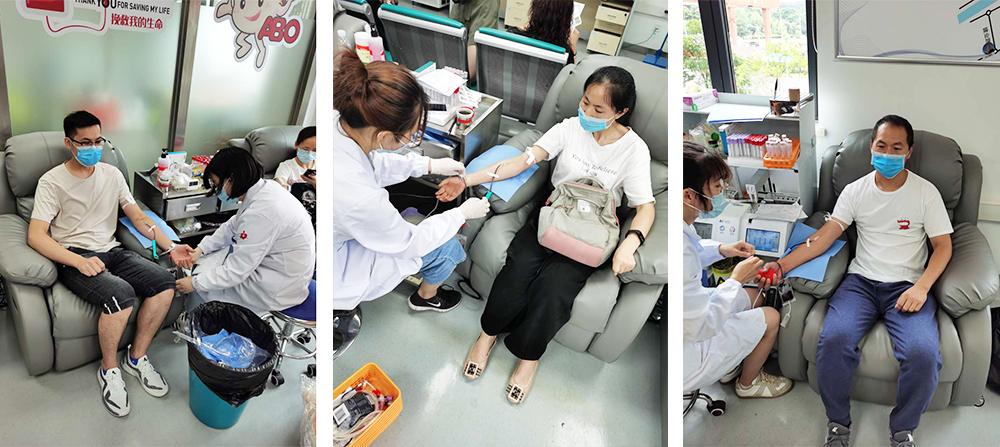 易龙防雷员工在献血中心