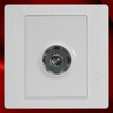 声光控插座 -F02白色拉丝
