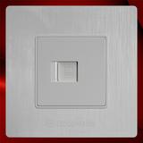电脑插座 -F02白色拉丝
