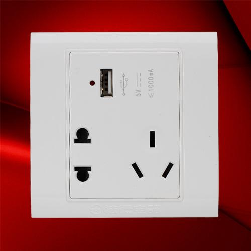 USB五孔插座-F08-US23C