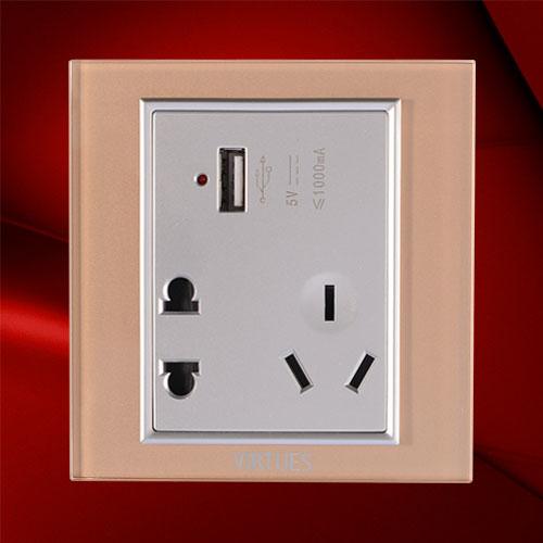 USB五孔插座-F07-US23C