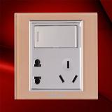 一位双控开关带二、三极插座 -F07-1KS23C