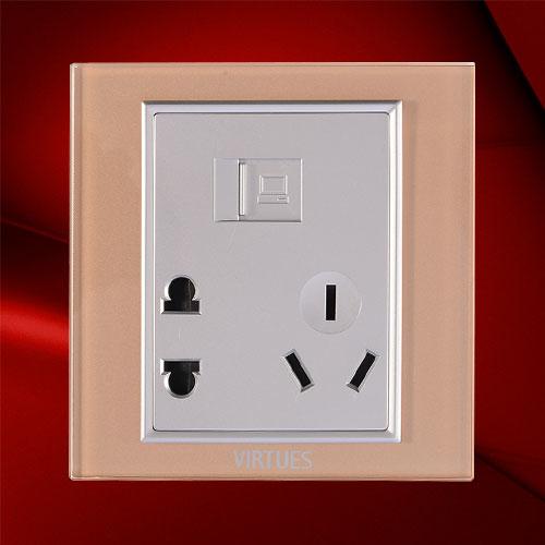 五孔电脑插座-F07-N23C