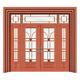 豪华铜铝门系列-GYJ-870(拼花玻璃门)红铜1号