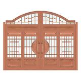 豪华铜铝门系列 -GYJ-875(庭院门)真铜2号