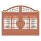 豪华铜铝门系列-GYJ-875(庭院门)真铜2号