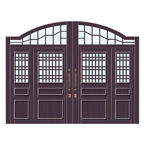 豪华铜铝门系列-GYJ-876(庭院门)真铜5号
