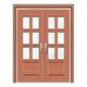 豪华铜铝门系列-GYJ-885(拼花玻璃门)真铜2号