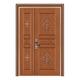 豪华铜铝门系列-GYJ-896(拼花板)紫铜1号