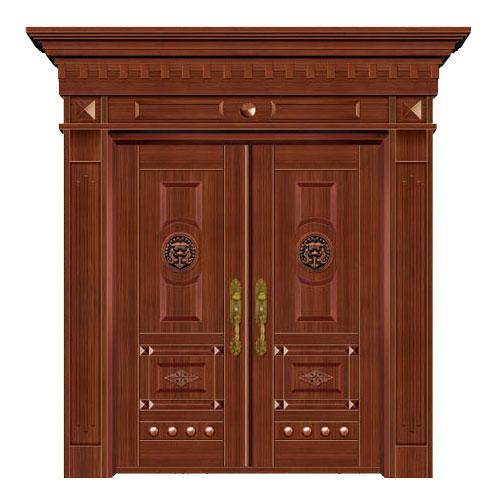 豪华铜铝门系列-GYJ-826(拼花板)红铜2号