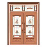 豪华铜铝门系列 -GYJ-886(拼花玻璃门)真铜1号