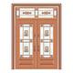 豪华铜铝门系列-GYJ-886(拼花玻璃门)真铜1号