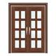 豪华铜铝门系列-GYJ-883(拼花玻璃门)紫铜2号
