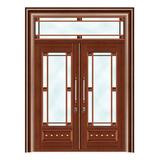 豪华铜铝门系列 -GYJ-889(拼花玻璃门)红铜2号