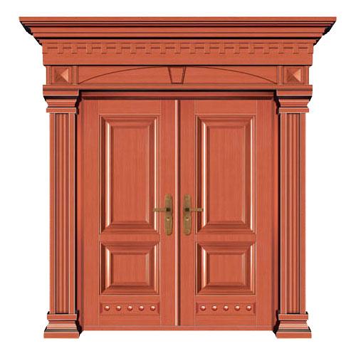 豪华铜铝门系列-GYJ-829(压花板)红铜1号