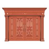 豪华铜铝门系列 -GYJ-802(压花板)红铜1号