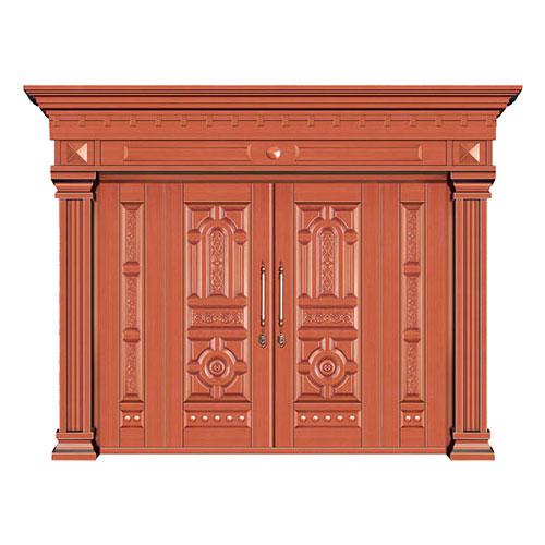 豪华铜铝门系列-GYJ-802(压花板)红铜1号