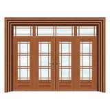 豪华铜铝门系列 -GYJ-871(拼花玻璃门)紫铜1号