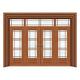 豪华铜铝门系列-GYJ-871(拼花玻璃门)紫铜1号