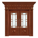 豪华铜铝门系列 -GYJ-862(拼花玻璃门)红铜2号