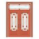 豪华铜铝门系列-GYJ-887(拼花玻璃门)红铜1号