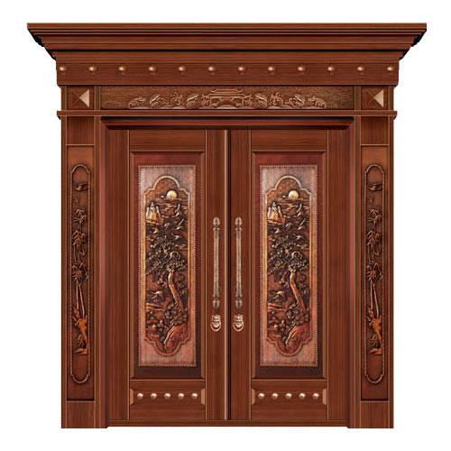 豪华铜铝门系列-GYJ-832(铜雕板)红铜2号