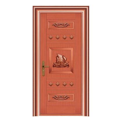 豪华铜铝门系列-GYJ-897(拼花板)红铜1号