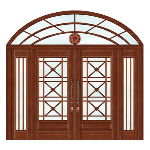 豪华铜铝门系列-GYJ-877(庭院门)红铜2号