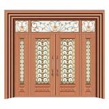 豪华铜铝门系列 -GYJ-873(拼花玻璃门)真铜1号