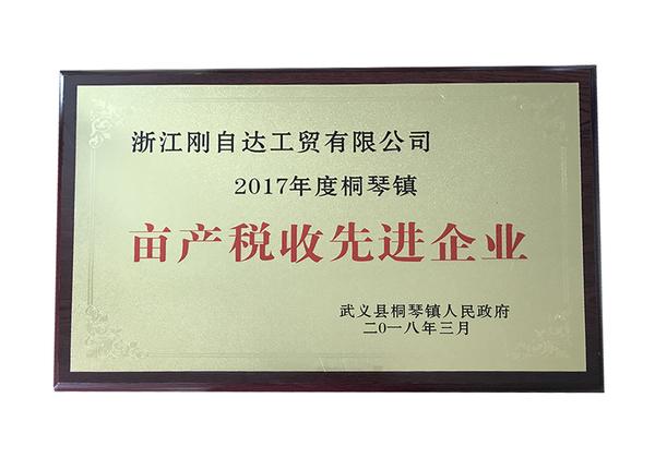 2017年度桐琴镇亩产税收先进企业