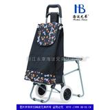 铝合金折叠带椅购物车XDZ06系列-XDZ06B-2F 郁金香