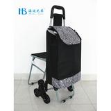 普通带椅爬楼购物车 -XDZ02-3X(黑拼色丁11#豹纹)