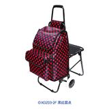 折叠带座椅购物车-XDZ03-2F 黑红圆点