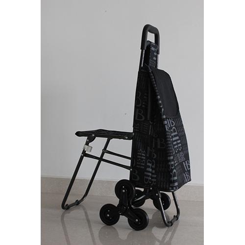 铝合金折叠带椅购物车XDZ06系列-22.0