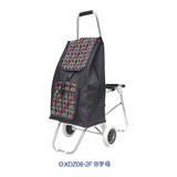 铝合金折叠带椅购物车XDZ06系列-XDZ06-2F B字母