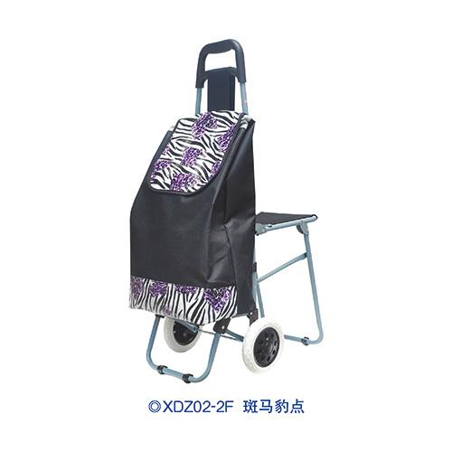 普通柄带椅购物车-XDZ02-2F 斑马豹点