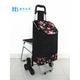 普通带椅爬楼购物车-XDZ02-3X(黑拼色丁黑牡丹)