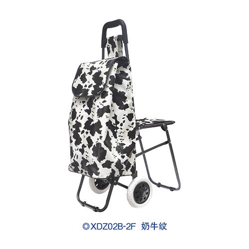 普通柄带椅购物车-XDZ02B-2F 奶牛纹