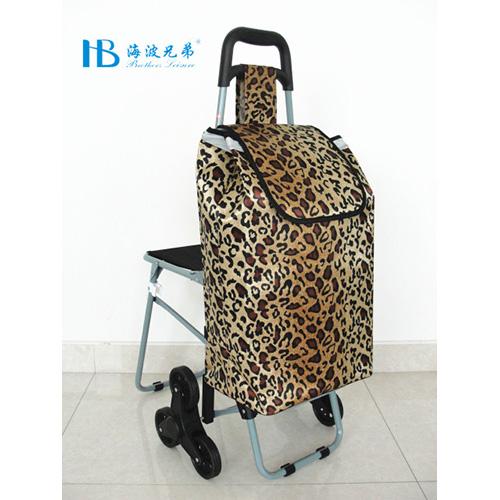 普通带椅爬楼购物车-XDZ02-3X(咖啡色兽皮纹)