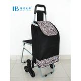 普通带椅爬楼购物车 -XDZ02-3X(黑拼色丁10#豹纹)