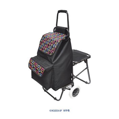 带座椅伸缩购物车-XDZ04-2F 大靶心