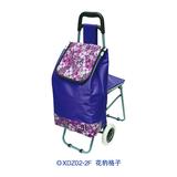 普通柄带椅购物车 -XDZ02-2F 花豹格子