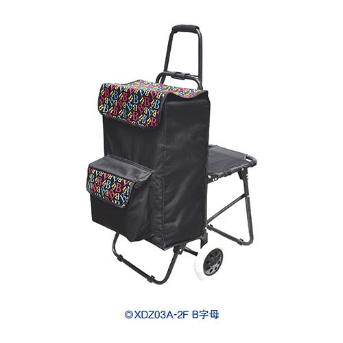 折叠带座椅购物车-XDZ03A-2F B字母