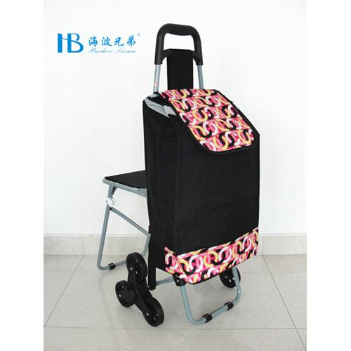 普通带椅爬楼购物车-XDZ02-3X(黑拼色丁7#连环圈)