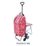 带座椅伸缩购物车 -XDZ04B-3P 玫瑰