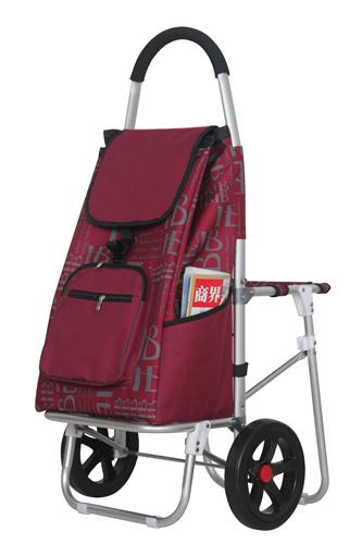 新款铝合金带椅购物车-XDZ07