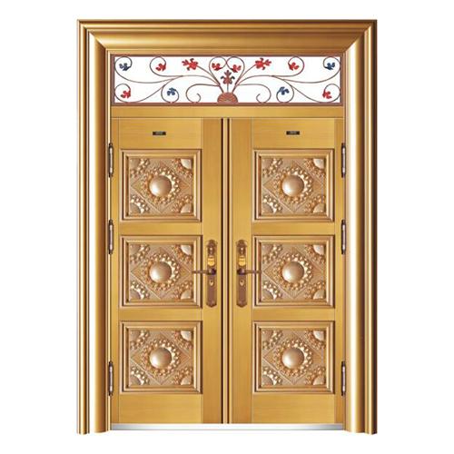 HB-1010金元寶 (鑄鋁拚接仿真銅5#)雙開門帶氣窗