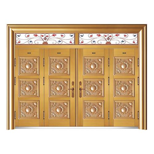 HB-1010金元寶 (鑄鋁拚接仿真銅5#)四開門帶氣窗